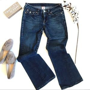 True Religion Joey Twisted Seams Flare Jeans